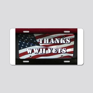 WWII Aluminum License Plate