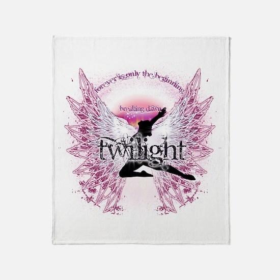 Twilight Crystal Angel by Twibaby Throw Blanket
