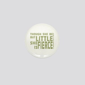She is Fierce - Stamped Olive Mini Button