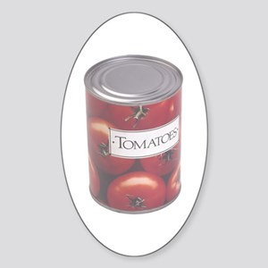 Some Canned Tomatoes On Your Oval Sticker