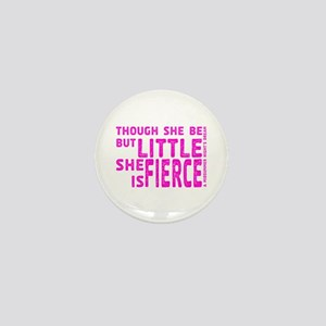 She is Fierce - Stamped Pink Mini Button