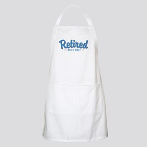 Funny Retired Bite Me Retirement Apron