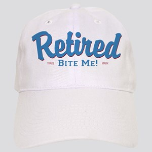 Funny Retired Bite Me Retirement Cap