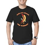 Ask Me Weiner Men's Fitted T-Shirt (dark)