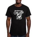 Blown in Chicago Men's Fitted T-Shirt (dark)