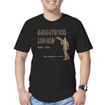 Gaughtwood Lumber Men's Fitted T-Shirt (dark)