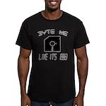 Byte Me 1983 Men's Fitted T-Shirt (dark)
