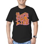 Hippie for Life Men's Fitted T-Shirt (dark)