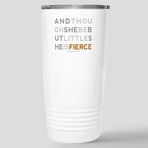 She is Fierce - Block Stainless Steel Travel Mug