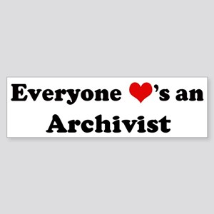 Loves a Archivist Bumper Sticker