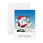 Santa & Greyhound Greeting Cards (Pk of 20)