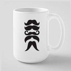 Moustache Choices Large Mug