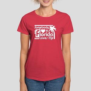 Somebody In Florida Loves Me Women's Dark T-Shirt