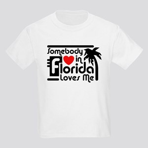 Somebody In Florida Loves Me Kids Light T-Shirt