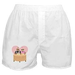 Sock Monkey Boy and Girl Love Boxer Shorts