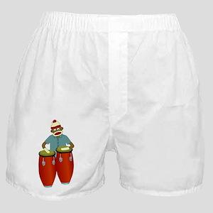 Sock Monkey Conga Drums Boxer Shorts