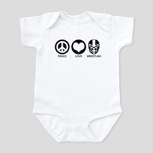 Peace Love Wrestling Infant Bodysuit