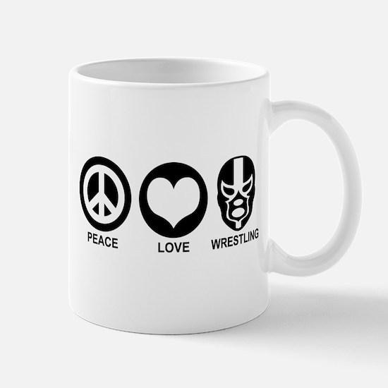 Peace Love Wrestling Mug