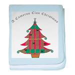 Clan Cameron Christmas Baby Blanket