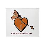 Kiss My Adorable Ass Throw Blanket