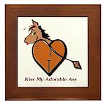 Kiss My Adorable Ass Framed Tile