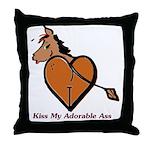 Kiss My Adorable Ass Throw Pillow
