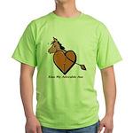 Kiss My Adorable Ass Green T-Shirt