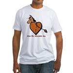 Kiss My Adorable Ass Fitted T-Shirt