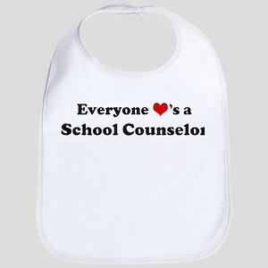 Loves a School Counselor Bib