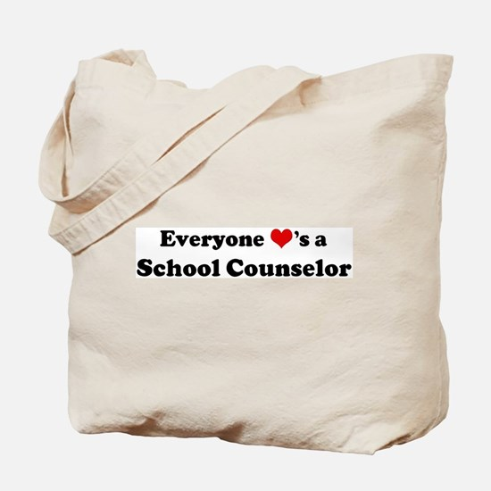 Loves a School Counselor Tote Bag