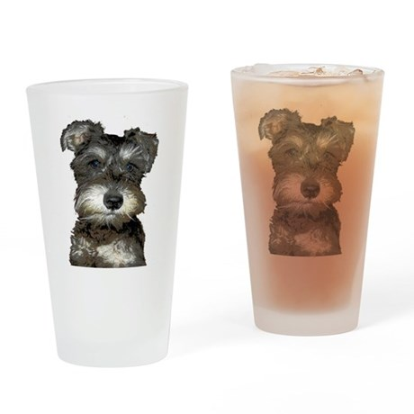 Puppy Drinking Glass
