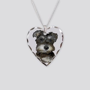 Puppy Necklace Heart Charm