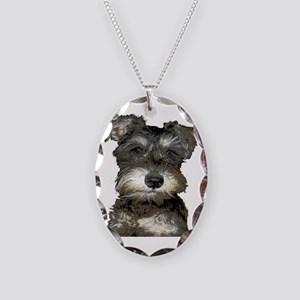 Puppy Necklace Oval Charm