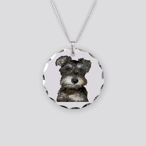 Puppy Necklace Circle Charm