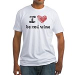 I Love Boxed Wine Fitted T-Shirt