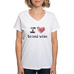 I Love Boxed Wine Women's V-Neck T-Shirt