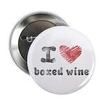 """I Love Boxed Wine 2.25"""" Button"""