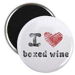 "I Love Boxed Wine 2.25"" Magnet (10 pack)"