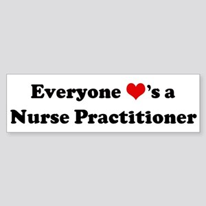 Loves a Nurse Practitioner Bumper Sticker