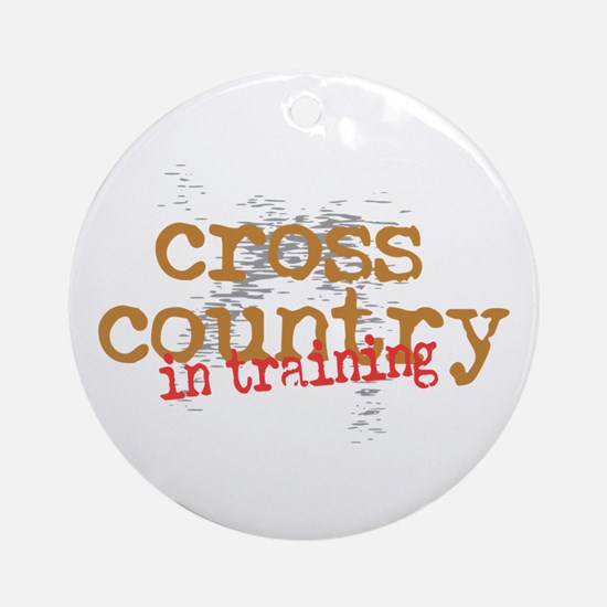 Cross Country Training Ornament (Round)