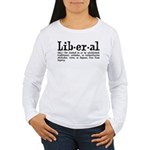 Definition of Liberal Women's Long Sleeve T-Shirt