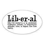 Definition of Liberal Sticker (Oval)