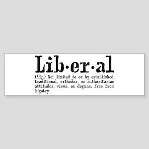 Definition of Liberal Sticker (Bumper)