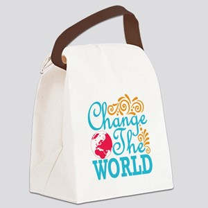 Change the World Canvas Lunch Bag