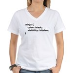 CSS Ninja Women's V-Neck T-Shirt
