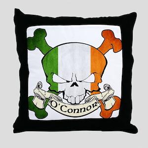 O'Connor Skull Throw Pillow