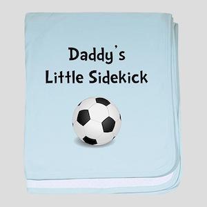 Daddy's Sidekick Soccer baby blanket