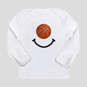 Basketball Smile Long Sleeve Infant T-Shirt