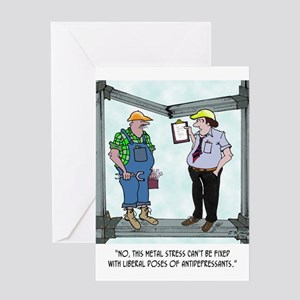 Metal Stress Not Fixed W/ Drugs Greeting Card