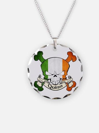 Quinn Skull Necklace Circle Charm